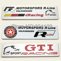 20pcs 3D Rline GTI Rabbit alloy Aluminum Badges Emblem D011
