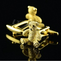 New Arrival / Free Shipping High Quality Gold Bear Cuff Links Classical Exquisite Cuff Links Men's Gift