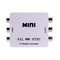 Mini RCA Video PAL to NTSC Bi-directional MINI TV Video System Converter PAL TO NTSC  or  NTSC TO PAL converter adapter