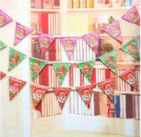 3 designs santa claus Pennant Christmas decoration chirstmas burgee christmas ornament christmas decorations for home