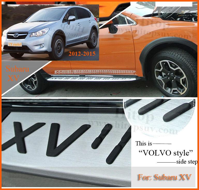 side step bar running board for Subaru XV 2012-2015, aluminum alloy
