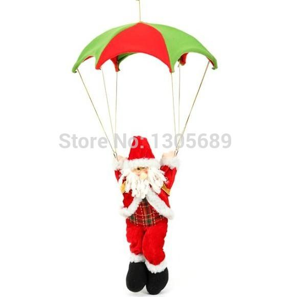 40cm high Santa Claud Christmas decoration supplies parachute Santa Claud Christmas gift hanging ornament indoor decoration red(China (Mainland))