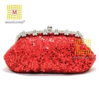 Women Evening Bags Flower Bride Bag Purse , Full Dress Party Handbag Wedding Clutch Free Shipping
