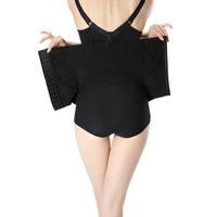 2014 Women High Waist Tummy Luxury lace funtional Control Body Shaper XJ1060 Slim black skin S-XL Pants Knickers Trimmer Tuck