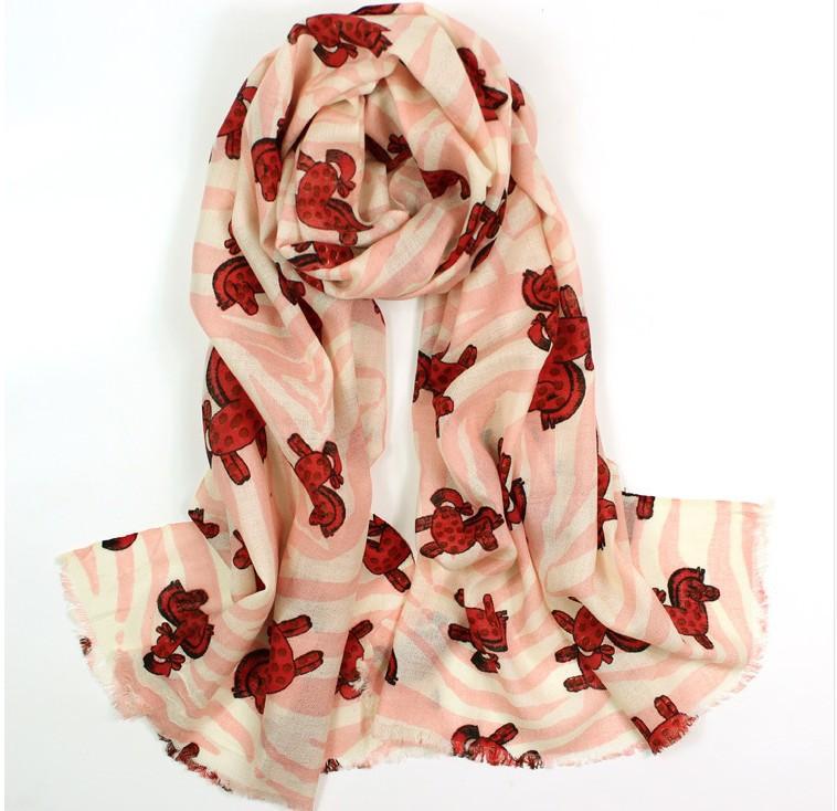 Newest 100% pure wool scarf shawl dual zebra print pattern play(China (Mainland))