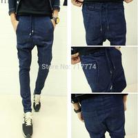 Free shipping 2014 new fashion brand mens jeans ripped skinny jeans men harem pants slim jeans pants