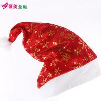 Adults Children Christmas Santa Claus red hat velvet hot snowflake Christmas hats