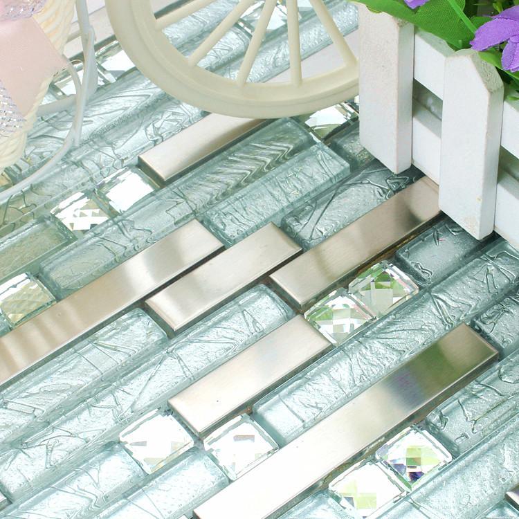 Azulejos Baño Vidrio:Azulejos De Vidrio Para Cocina : Gris azulejos de mosaico de vidrio
