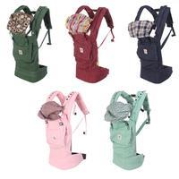 multifunctional mochila infantil menina 2015 cheap  5 colors cotton baby carrier floral stripe checked liner baby backpacks
