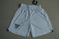 New 2014 Lazio Home White Soccer Shorts Thailand Quality Jersey Embroidery logo Running Shorts 14 15 Lazio Men Sportswear