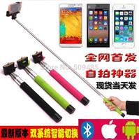 2014 christmas x'mas gift wireless extendable bluetooth handheld monopod selfie monopod for iphone samsung mobile phone holder