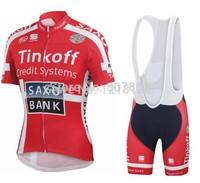 2014 Saxo Bank tinkoff Cycling jersey bib shorts kit bicicleta mountain bike cycling tight ropa ciclismo MTB bike jersey