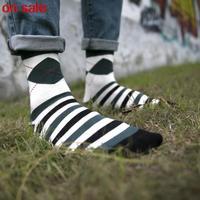 2014 diamond business casual men socks color stripe cotton socks Breathing socks 5pairs/lot wholesale socks men high quality