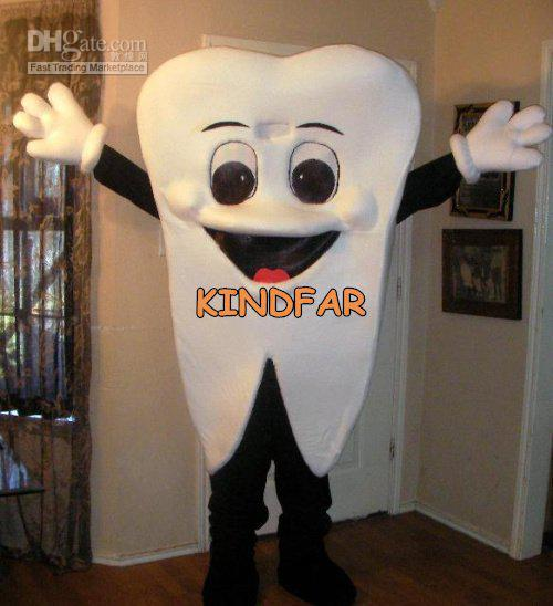 Hot sale 2014 Adult TOOTH Mascot costume Adult Size Halloween Cartoon Party Outfits Fancy Dress Ideas(China (Mainland))