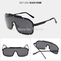 Free Shipping Vintage Steampunk Metal Rivet Frame Reflective Coating Lens Sunglasses Women Men oculos de sol Fashion Sun Glasses