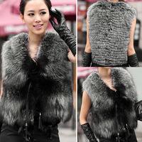 2014 Autumn Winter Faux Fur Vest Colete De Pele Falso Winter coat Casacos Femininos Womens Coat Plus Size Free Shipping