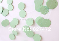100ft  4cm circle paper garlands handmade wedding & event party decoration baby shower wooden bridal showers decoration