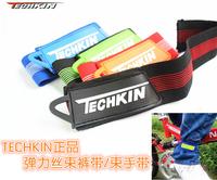 30121 TECHKIN Teli OK bicycle leggings with / Spirituality band / bundle foot straps / belts