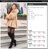 2014 New Winter thickening cloak cute female medium-long maternity Cape fur coat han edition fashion trench coat