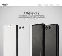 Original ROCK PC+PU Leather Slim Flip Case For Sony Xperia Z3 Compact M55W Z3 mini Battery Flip Cover