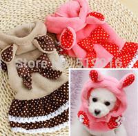 Autumn bow ribbon pet hoodie dog clothes pet clothing skirt