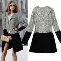 2014 winter women's fashion medium-long loose cardigan sweater female outerwear