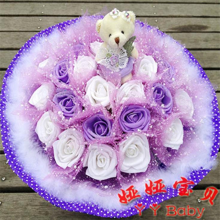 Cute Teddy Bear Pictures With Roses Roses 1 Diamond Teddy Bear