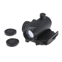 JJ Airsoft T1 / T-1 Red Dot, Bobro Style QD Low Mount (Black)