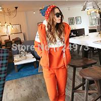 Plus size orange women autumn winter hot sale tracksuits clothing set,sportswear jogging suits for women 3 pieces 1 lot