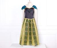 2014 New Children Summer Dress Anna Princess Girls Clothing