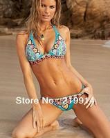 Good Quality 2014 New Arrival Summer  Women Swimwear  Women Bathing Suits Retro Style Swimsuits Printed  Bikini  S/M/L Size