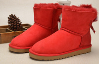 Free Shipping Womens' Bailey Bow Australia Snow Boots, Women's Winter Boots Real Leather 1005304 Size EU36-40 On Sale