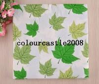 100pcs green leaves tissue napkins multicolour table napkin wedding event party tissue serviettes party tableware
