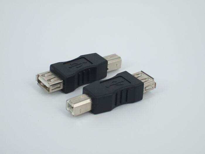 By DHL 300pcs/lot USB 2.0 Adapters USB Female to B Male Convertors USB 2.0 Convertors Free Shipping(China (Mainland))