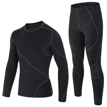 Men Winter Sports Thermal Underwear,Black Long Johns.Fit for outdoor sports.Free shipping.(China (Mainland))