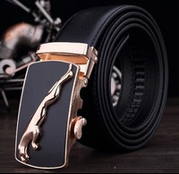 Free transportation Men's leather belt men's brown leather high-quality leather strap automatic 64-style oversized fashion metal