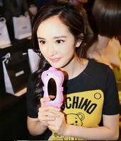 New 3D cute cartoon silicone Rubber Gel Barbie Magic mirror case cover for iphone 4 4S 5 5S 5C 6 plus 4.7 5.5 phone case