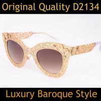 Brand Vintage Designer Fashion Original Women Sunglasses D2134 Retro Sun Eye Glasses Oculos Do Sol Feminino Outdoor Sunglass