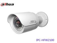 Free shipping Dahua 1.3Mp CMOS HD Network camera IR-Bullet Camera HFW2100 Support POE Auto iris AWB AGC BLC CCTV camera