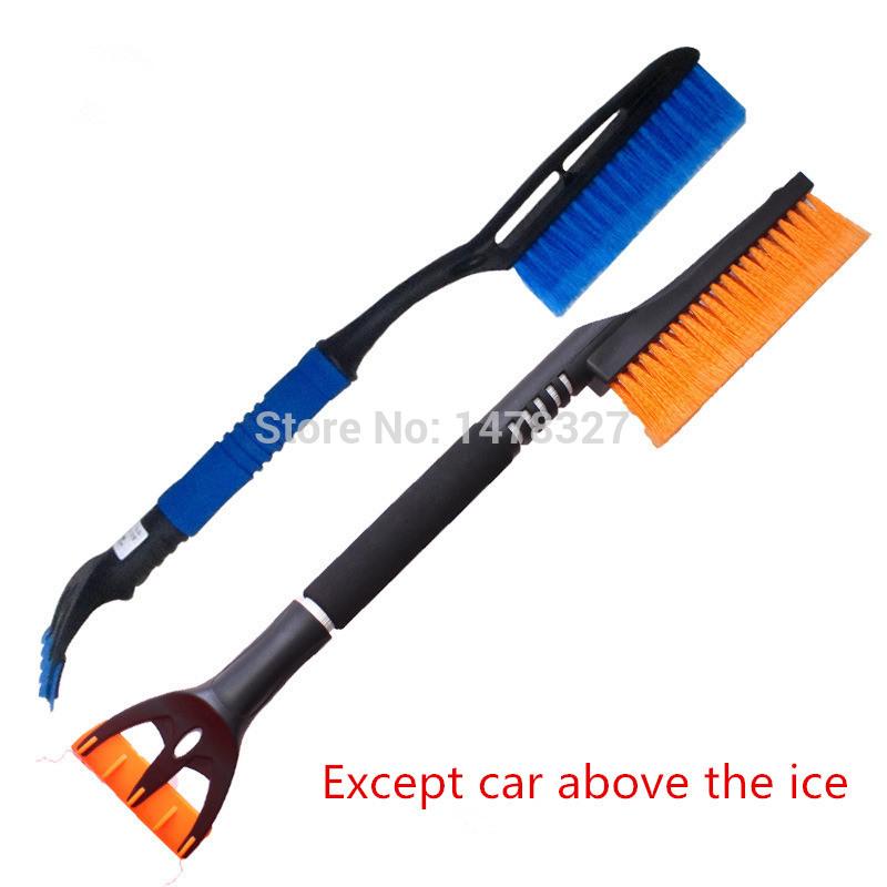car snow brush ice shovel scraper removal emergency spade auto clean tool,Aluminum alloy adjustable shovel snow brush ice(China (Mainland))