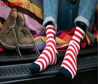 2014 Fashion Plaid Men's socks pocket color striped cotton socks wholesale Breathing socks  5pairs/lot/mix 5color  good quality