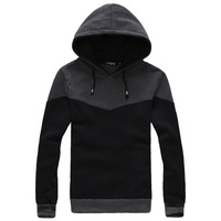 2014 autumn \ winter fashion all-match self-cultivation Shuangpin color Hooded Fleece hoodies jacket men's sports suit