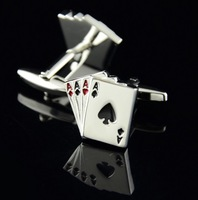 New Arrival / Free Shipping High Quality Poker Design Cuff Links Classical Exquisite Cuff Links Men's Gift
