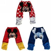 New Arraival Cartoon 9pcs/lot Winter Warm thicken Baby PP Pants Children's Elastic Waist Pants,coral fleece Kids Loose trousers