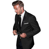 Hagx men's clothing bakham fashionable casual male fashion buckle wool slim suit satin suit