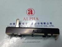 Taiwan ALPHA 73MM Slide with Straight shaft potentiometers B10KX2 15MM 5pcs/lot freeshipping