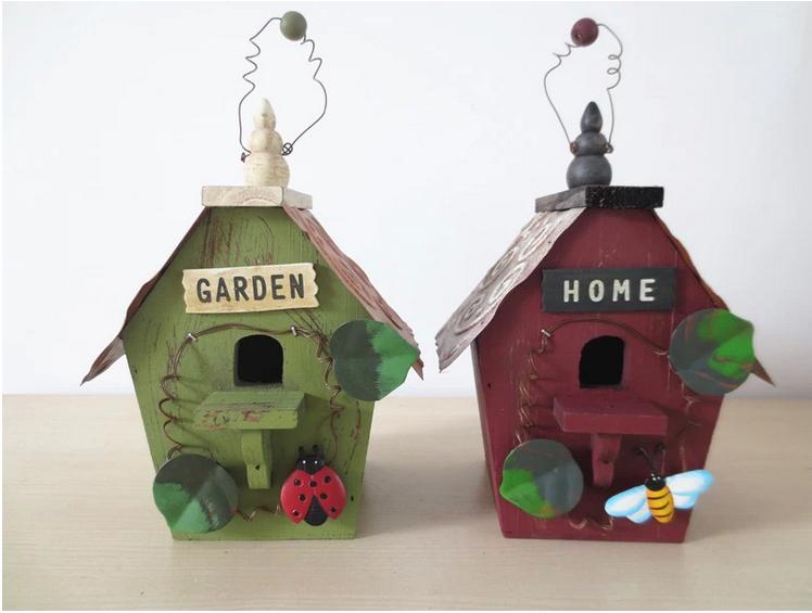 enfeites de jardim solar : enfeites de jardim solar:Garden Decor Bird House