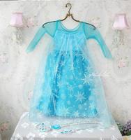 Beautiful Elsa Princess Dress Girls Party Cosplay Clothing