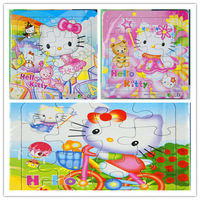hello kittychildren's jigsaw puzzle  children's cartoon children's intelligence puzzle game educational toys for kids