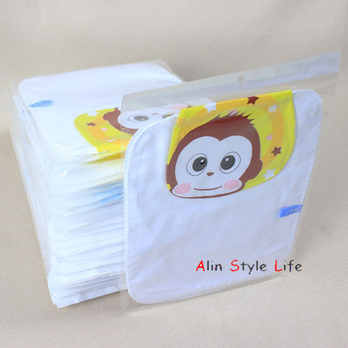 Pure cotton gauze baby every sweat towels Children's cartoon illustration baby absorbent mat towel(China (Mainland))